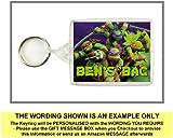 Personalised TEENAGE MUTANT NINJA TURTLES Keyring / Bag Tag - Ideal for Lunch Boxes, School Bags etc