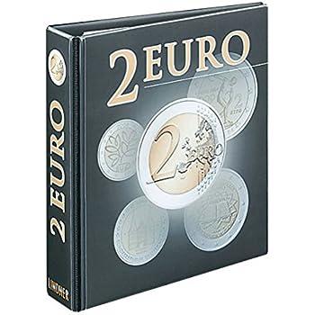 c257720a4f PUBLICA M Album per monete 2 euro [Lindner 3535R], Raccoglitore ad anelli  in disegno 2 Euro