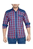 High Hill Men's Casual Shirt (RED155_Red_36)