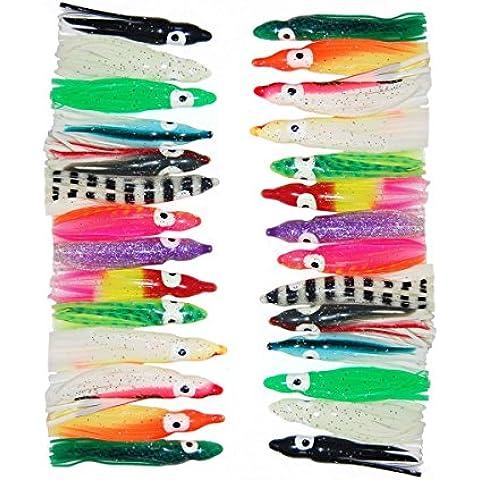 jshanmei® 60pc/lot 5cm Esche da Pesca Squid gonne Octopus pesca a traina esche da pesca Set