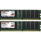 Komputerbay 2GB (2X1GB) DDR DIMM (184 PIN) 400Mhz PC3200 CL 3.0 DESKTOP SPEICHER