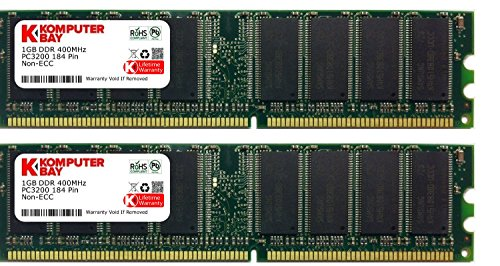Komputerbay 2gb (2 X 1gb ) Ddr Dimm (184 Pin) 400mhz Pc3200 Cl 3.0 Desktop Memory