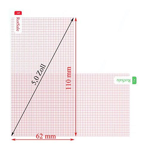 RotSale® 3x 5 Zoll karierte klare Displayschutzfolie für Kamera, Handy und Navi, klare und saubere Oberfläche, Hohe Durchsichtigkeit