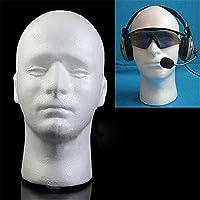 Steellwingsf Male Mannequin Styrofoam Foam Manikin Head Model Wig Glasses Hat Display Stand