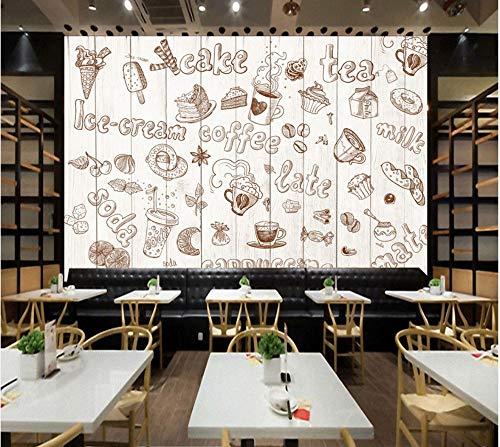 Wanghan 3D Tapete Individuelle Tapeten Europa Und Amerika Bord Brot Dessert Graffiti Ktv Hintergrund Western Restaurant Cafe Fototapete-350Cmx245Cm - Europa-dessert