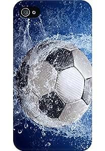 AMEZ designer printed 3d premium high quality back case cover for Apple iPhone 4 (soccer splash water)