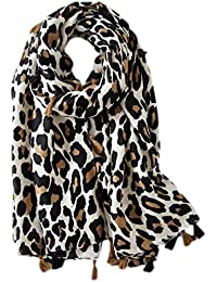 dfb152a04427 Gysad Écharpe femme Motif léopard Écharpe femme hiver longue Doux et  confortable Écharpe femme hiver chaud