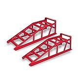 Festnight 2 Stück Stahl Auffahrrampe Rampe Verladerampe Belastbar bis zu 2000kg pro Paar 91 x 27 x 24 cm