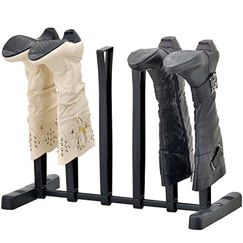 MyGift 3-Paar Stiefel, Hoch, Storage Rack, Holder & Form Betreuer Schuh Ständer, Schwarz - Schwarze Kalb-western-boot