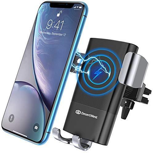 Wireless Charger Auto Lüftung Qi Ladestation Wireless KFZ Ladegerät 10W Induktive Ladestation für iPhone XS Max Xs Xr 8 8 Plus, Samsung Galaxy Note 9 S10 S9 S9 Plus S8【Aktualisierte Version】