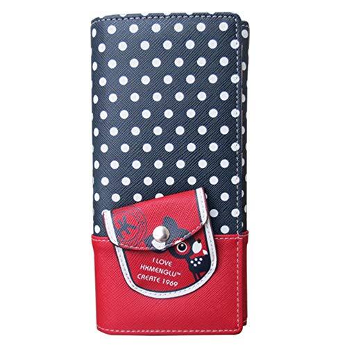Leder Girls Wallet (XSWE PU-Leder Langwalletten Clutch Ladies Purse Wallet for Women Girl)