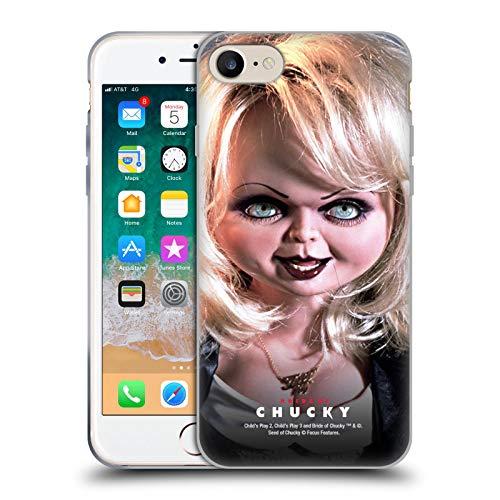 Head Case Designs Offizielle Bride of Chucky Tiffany Puppe Schluessel Kunst Soft Gel Huelle kompatibel mit iPhone 7 / iPhone 8