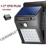 Stop 'N' Buy Ever Brite Solar Power LED Light Outdoor Motion Activated Sensor for Home Garden, Balcony, Main Door (20 LED)