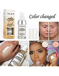 Mamum TLM Flawless Couleur Changeante Ton Chaud Peau Teint Base de Maquillage Visage Nu Visage hydratant Couverture Liquide correcteur pour Femmes Filles