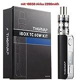 THORVAP Elektronische Zigarette IBOX 60W Komplett Starterset mit Top Refill Clearamizer 0.3ohm und TC (Temperaturregelung) Box Mod (Schwarz Kit)