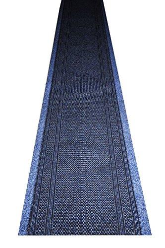 havatex Küchenteppich/Küchenmatte / Teppichläufer Arabo schadstoffgeprüft | robust pflegeleicht und schmutzresistent | Küche Flur Diele Veranstaltungen, Farbe:Blau, Größe:80 x 300 cm