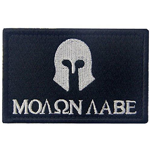 Tactical Molon (Usurpator) Elbe Spartacus Milltary bestickte Applikation Moral Haken & Schleife Patch weiß/schwarz