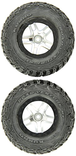 traxxas-5882r-kumho-s1-tires-pre-glued-on-sct-split-spoke-satin-chrome-black-beadlock-style-wheels-2