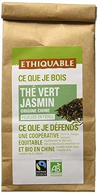 Ethiquable Thé Vert Jasmin Chine Vrac Bio et Équitable 100 g Max Havelaar - Lot de 3