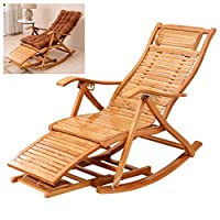 Rubik Adjustable Wooden Rocking Chair Recliner with Removable Cushion Leg Support Foot Massage Roller Relaxing Arm Chair Foldable