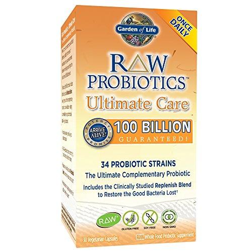 Garden of Life. Raw Probiotics (Probiotika), Ultimate Care, 30 Vegetarische Kapseln | Rohkost | 34 probiotische Stämme | garantiert 100 Milliarden lebende probiotische Kulturen