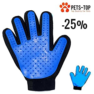 [NOUVEAU] GANT DOUBLE FACE Toilettage / Massage / Ramasse poils - PETS-TOP Chien & Chat - 3 EN 1