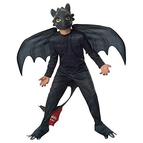 Zahnlos Kostüm - Ohnezahn Drachen zähmen leicht gemacht Gr. S (3-4 Jahre) Fasching Karneval Kostüm Kinderkostüm Mottoparty Drache