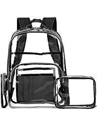 ce40461f8a66f FOSTAK Klar Rucksack PVC Transparent Taschen Durchsichtig Schulrucksack  Clear Bookbag Reise Backpack Gepäck Beutel Outdoor…