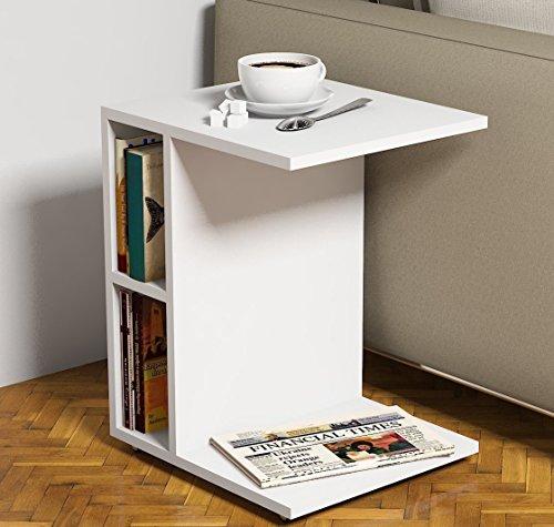 Tavolino basso da salotto SISTER - Bianco - materiale in legno ...