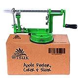 ARSUK Pelador de Manzanas, Fruta y verdura, pelador de Patata Fruta, Cortadores para Fruta by (Verde)