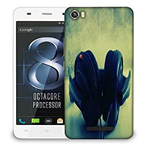 Snoogg Dj Music Designer Protective Phone Back Case Cover For LAVA IRIS X8