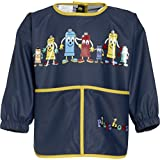 Playshoes Boy's long sleeve painting apron, blue - Camiseta de manga larga para bebés niño