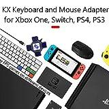 HAMKAW Adapter Tastatur Maus Switch - Adapter Konverter Tastatur und Maus für PS4/PS3/XBOX/Switch/PC - Verwaltung des Spiels im Maus- und Tastaturmodus