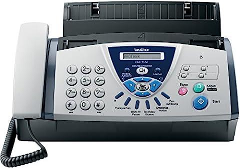Brother FAX T106 Télécopieur / photocopieuse Noir et blanc transfert thermique 14.4 Kbits/s