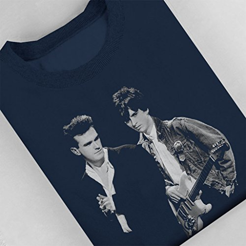 The Smiths Morrissey And Johnny Marr Together Live 1985 Women's Sweatshirt Navy blue