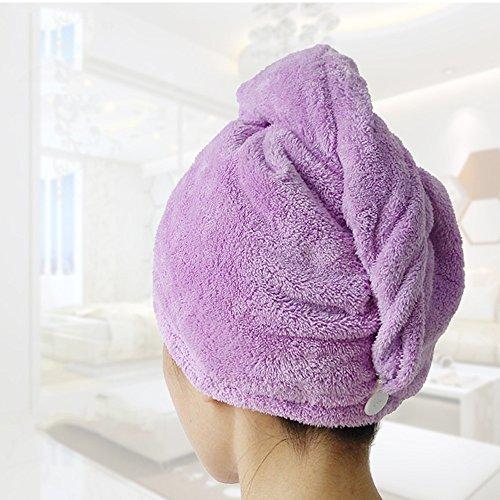 Addfun®Mikrofaser Gesichts Turban Haar-Tuch, Spa Tage Luxus saugfähig, weich, hautfreundlich , Super Absorbent(Lila)