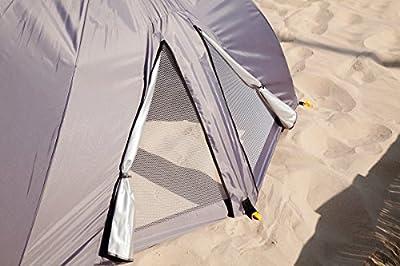 Meerweh Riesen Strandmuschel Windschutz Sonnenabdeckung Sonnenschirm mit UV Schutz, ca. Ø 290 cm, Grau von Meerweh auf Gartenmöbel von Du und Dein Garten