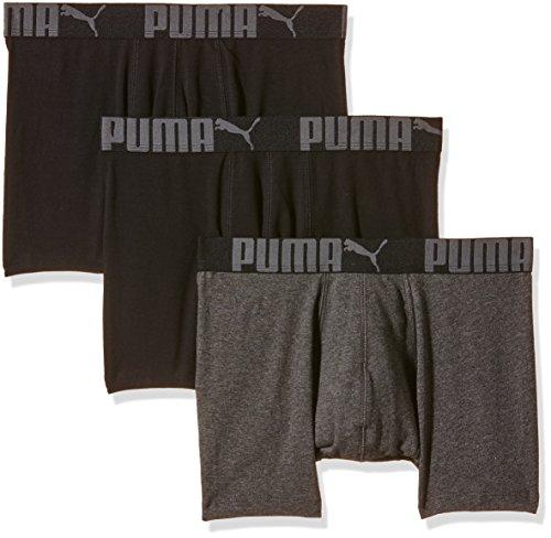 Puma Boxer - Lot Promo de 3-Pantaloncini Uomo    Noir (Noir/Anthracite) Medium