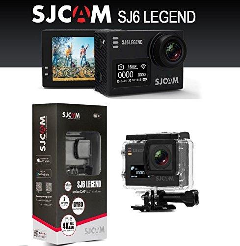 SJCAM SJ6 Legend Dual Screen 2 inch LCD Touchscreen 2880x2160 Novatek NT96660 Sports Action Camera with Accessories Black