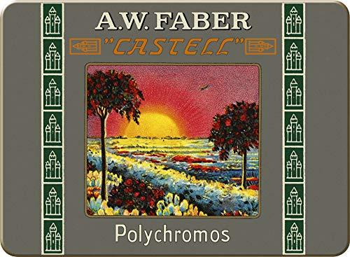 Faber-Castell 211004 - Farbstifte Polychromos, 12er Etui kurze Stifte, 111 Jahre, in Originalaufmachung, Limitierte Auflage