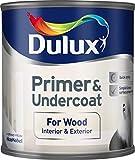 Dulux Primer & Undercoat for Wood 0,25 L - Tapaporos (Madera, Preparado, Al agua, Opaco, Cuarto de baño, Dormitorio, Habitación de los niños, Salón co
