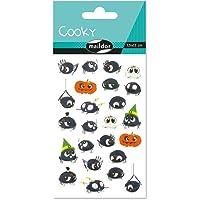 Maildor CY083O - Un sachet de gommettes 3D Cooky 1 planche 7,5x12cm, Araignées (24 stickers)