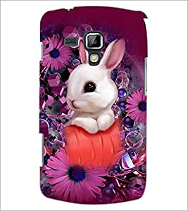 PrintDhaba Bunny D-5045 Back Case Cover for SAMSUNG GALAXY S DUOS S7562 (Multi-Coloured)