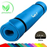 MOVIT XXL Pilates Gymnastikmatte, Yogamatte, phthalatfrei, SGS geprüft, 190 x 100 x 1,5cm, Himmelblau