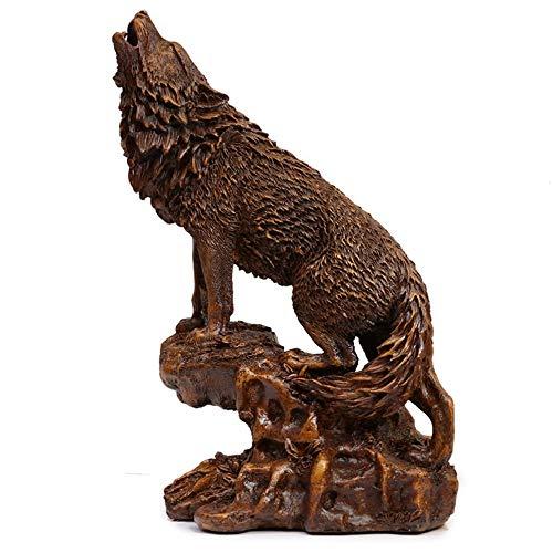 QINQIGY Estatua Decorativa Adornos Lobo Estatua Escultura