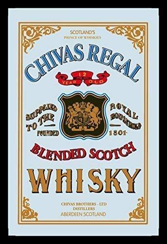 Chivas Regal 12 Year old Blended Scotch Whisky Nostalgie Barspiegel Spiegel Bar Mirror 22 x 32 cm -