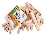 Holzbausteine Kleines Grundpaket (66 unbehandelte Bauklötze)