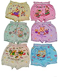 Shanti Store Girls ,s and Boy's Bloomers Pack of 6 (SS-B/G-03-M (1-2 Year )