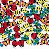 Fun Express 144 Mini Insect Erasers
