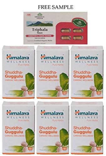 himalaya-shudha-guggulu-commiphora-mukul-60-tablets-pack-of-6-free-expedited-shipping-via-dhl-expres